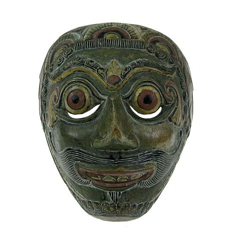 File Collectie Tropenmuseum Gepolychromeerd Houten Masker Prabu Kelana Voorstellend Tmnr H 784 Jpg Wikimedia Commons