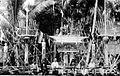COLLECTIE TROPENMUSEUM Voor een dodenfeest op Zuidoost-Borneo hebben mensen palen van ijzerhout (sanggarans) gemaakt en bij de sandongs geplaatst TMnr 10003170.jpg