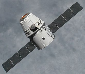 2012 in spaceflight - The Dragon spacecraft (pictured) conducted the first COTS demonstration logistics flight in May 2012, becoming the first commercial spacecraft to rendezvous with the International Space Station.