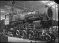 C class 2-6-2 steam locomotive, New Zealand Railways no 851, under construction at Hutt Railway Workshops, Woburn. ATLIB 290103.png