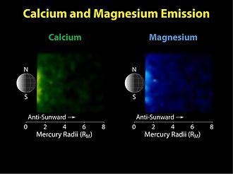 Atmosphere of Mercury - Ca and Mg in the tail