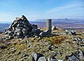 Cairn and trigpoint on Beinn na Seamraig - geograph.org.uk - 1744984.jpg