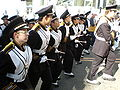Cal Band en route to Memorial Stadium for 2008 Big Game 19.JPG