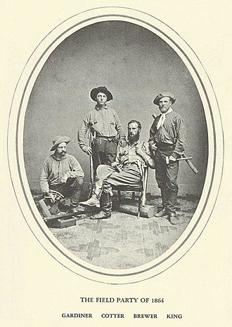 California Geological Survey - William H. Brewer's 1864 field party