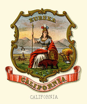Great Seal of California - California Historical coat of arms (illustrated, 1876)