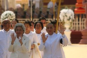 Cambodge - Roi et mère