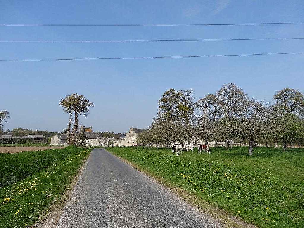 Campigny, manoir et église, vue d'ensemble.JPG