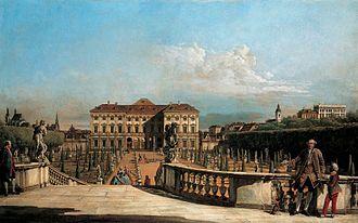 Liechtenstein Museum - Liechtenstein Garden Palace painted in 1759 by Bernardo Bellotto.