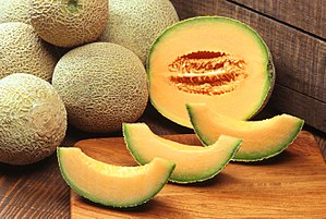 Cantaloupe-Melone (Cucumis melo var. cantalupensis)