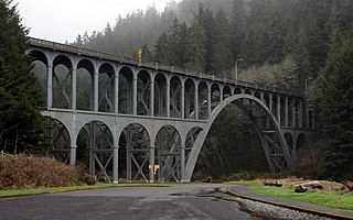 highway bridge in Oregon, USA