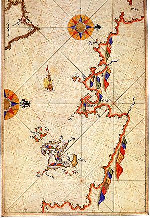Bozburun - Bozburun in a Piri Reis map