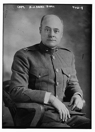Anthony Joseph Drexel Biddle Sr. - Biddle Sr. in 1918