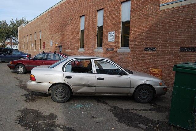 Car with broken window