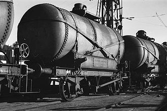 Rjukan Line - Wagons of ammonia, in the late 1940s