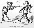 Caricature; shooting off a tie. Wellcome L0028021.jpg