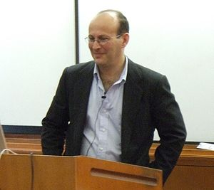 """Carl Malamud - Carl Malamud speaking at the UC Berkeley iSchool about """"(Re-)defining the public domain"""", October 17, 2007."""