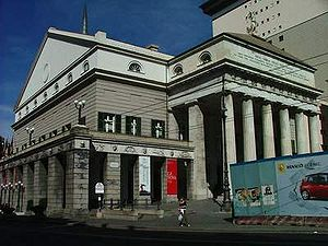 Rationalism (architecture) - Teatro Carlo Felice, designed by Aldo Rossi, who is considered the founder of neo-rationalism