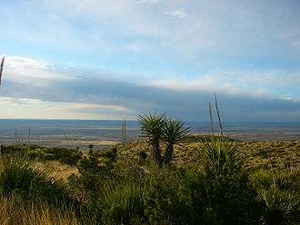 Carlsbad Caverns National Park - Outside the entrance to the caverns