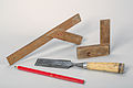 Carpenter-tools Beveled-edge-chisel-two-angle-gauges-and-carpenters-pencil-01.jpg