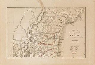 Carte de la Côte de l`Est du Brésil entre le 12e et le 15e degré de latitude du Sud d´après Arrow-Smith avec quelques rectifications
