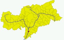 Θέση του δήμου στην επαρχία μπολτσάνο