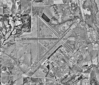 National Register of Historic Places listings in Natrona County, Wyoming - Image: Casper Natrona County International Airport WY 17Sep 1994 USGS
