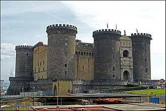 Naples - The Castel Nuovo a.k.a. Maschio Angioino, a seat of medieval kings of Naples and Aragon.