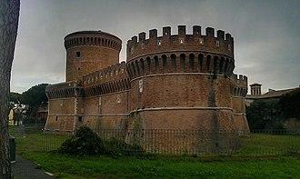 Ostia Antica (district) - The Castle of Julius II in Ostia Antica.