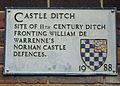 Castle Ditch plaque (9872320815).jpg