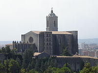 Girona Cathedral Catedral Girona from Montjuic.JPG