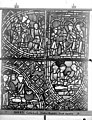 Cathédrale - Vitrail, déambulatoire au nord, saint Julien l'Hospitalier, dixième panneau, en haut - Rouen - Médiathèque de l'architecture et du patrimoine - APMH00031356.jpg