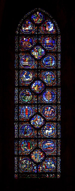 English: The window of the Zodiac, in the choi...