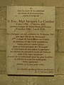 Cathédrale de Saint-Denis.Plaque funéraire de Jacques Le Cordier.jpg