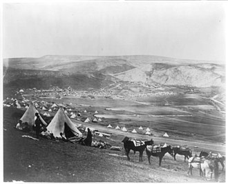 100 Photographs that Changed the World - Image: Cavalry camp near Balaklava 1855.3a 34625r
