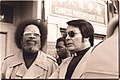 Cecil Williams and Jim Jones at anti-eviction rally at the I-Hotel, January 1977.jpg
