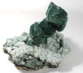Celadonite mica, phyllosilicate mineral