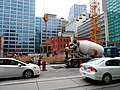 Cement truck, and bucket, at the excavation SE of Victoria and Richmond, 2017 08 18 -a (36307904100).jpg