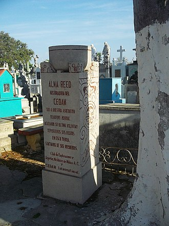 Alma Reed - Tomb of Alma Reed in Mérida, Yucatán