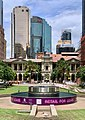 Central area of the Post Office Square and General Post Office in the background, Brisbane, February 2020.jpg