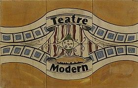 Ceràmica, (Rajola de València). Espai públic d'Alginet. Teatre Modern.jpg
