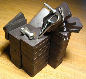 Ferrite (magnet) - A stack of ferrite magnets