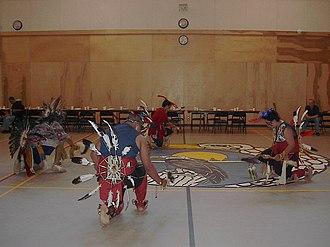 Penelakut Island - Image: Ceremonial Dance, Kuper School Gymnasium