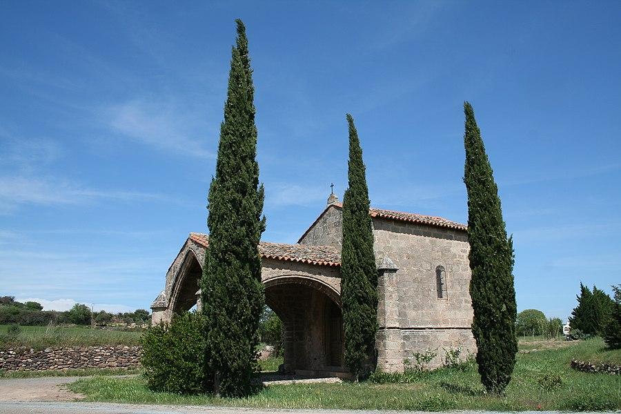 Ceyras (Hérault)- chapelle Notre-Dame de l'Hortus (XIVe - XVe siècle).