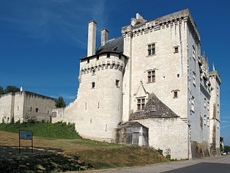 Loire - Château de Montsoreau built directly in the Loire riverbed, 1453