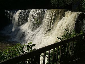 Chagrin Falls, Ohio - Waterfall on the Chagrin River near the center of Chagrin Falls, Ohio.