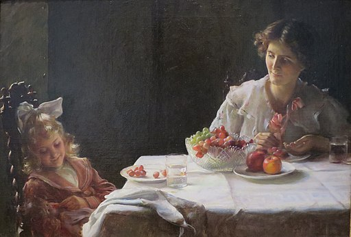 Charles Courtney Curran - 'Breakfast for Three', 1909