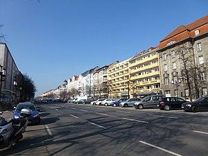 Kaiserdamm - Kaiserdamm in Charlottenburg, view to the west