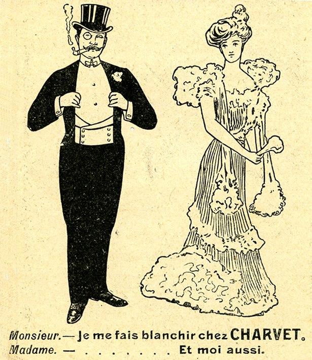 Charvet laundry advertising