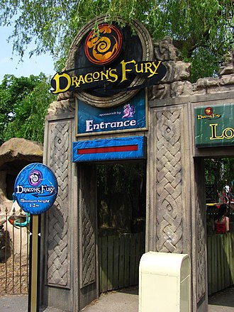 Dragon's Fury (roller coaster) - Entrance of the ride