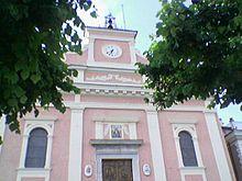 Facciata della chiesa madre di Viggiano, Basilica Pontificia dal 1956